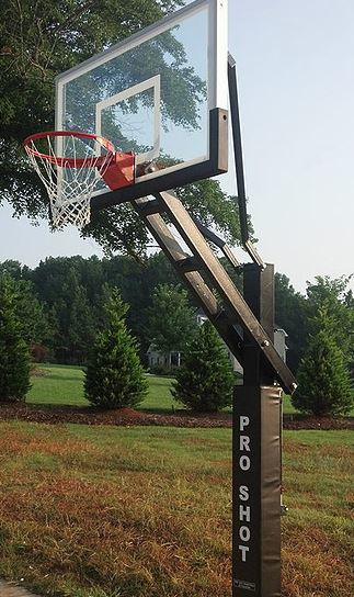 photo of Pro Shot Basketball pole and backboard