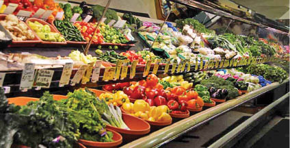 photo of the produce counter at Product Palace in Warren, MI