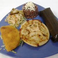 Our pupusas are 100% hand made fresh to order stuffed with traditional mouthwatering ingredients such as pork, chicken, vegetables, beans, loroco and more.