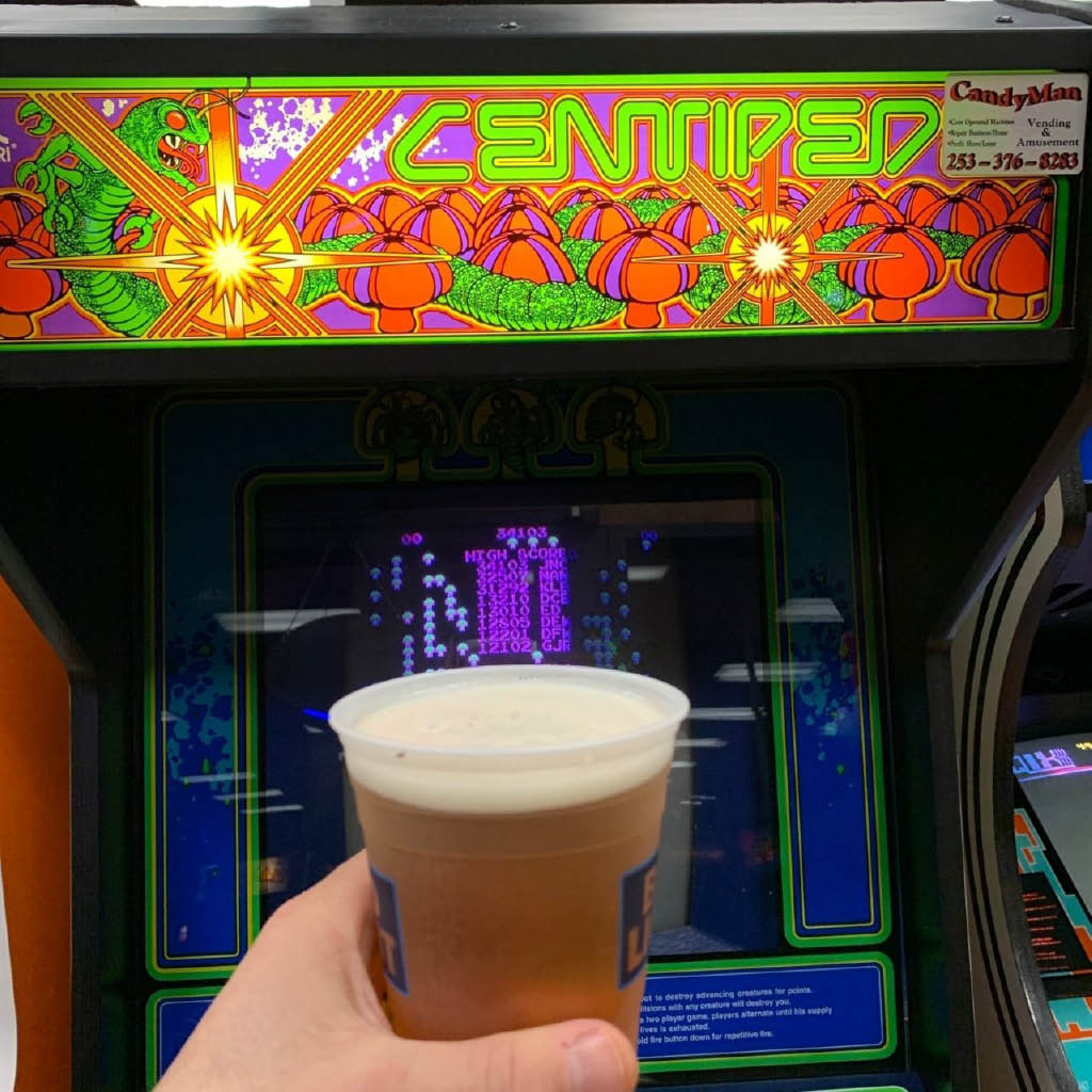 Enjoy crafted beer on tap while you play arcade games at Purdy's Arcade & Craft House in Sumner, WA - arcade centers near me - arcades near me - arcades in Sumner, WA - dining in Sumner - entertainment in Sumner