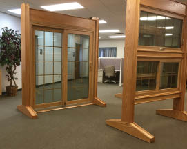 photo of oak windows and doors from Pure Energy Window Company in New Hudson, MI