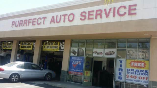 Purrfect Auto Service AC Inspection CA oil change coupons, engine light diagnostic