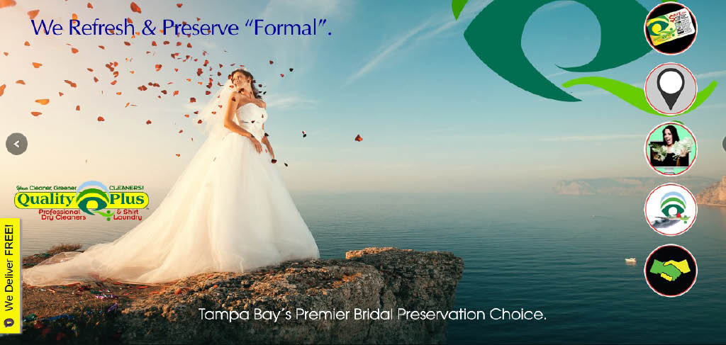wedding gown and bridal dress dry cleaning and preservation Clearwater, FL