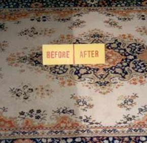Before and after photo of the best carpet cleaning company in Maryland