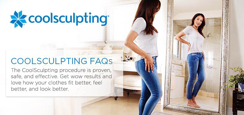 See a slimmer you in the mirror with Coolsculpting from Queen Anne Medical Associates in Seattle, WA - fear no mirror - freeze the fat away