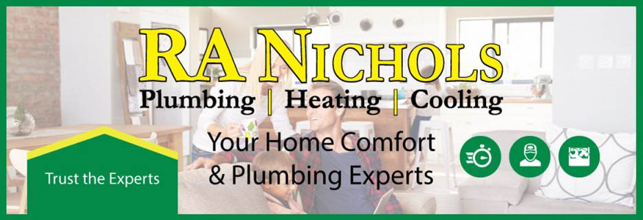 RA Nichols Plumbing, Heating, Air Conditioning & Drain Cleaning Banner