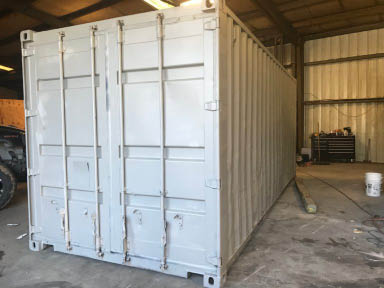 Refurbished shipping container
