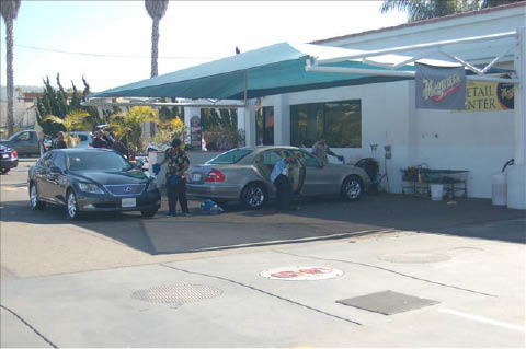 Russell Fischer Car Wash in Huntington Beach
