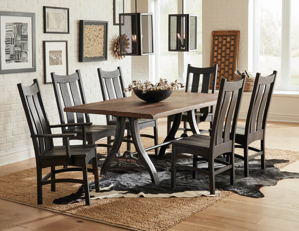 table chair amish oak dining set