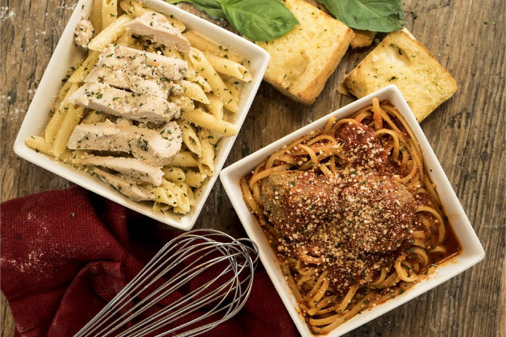 Delicious pasta meals