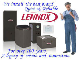 Rabbit Heating and Air of Thornton Colorado sells services and repairs Lennox equipment
