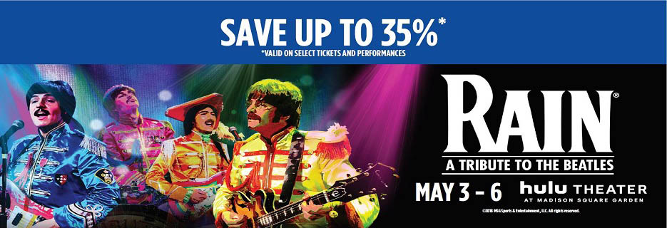 Rain - A Tribute To The Beatles in Madison Square Garden Banner ad