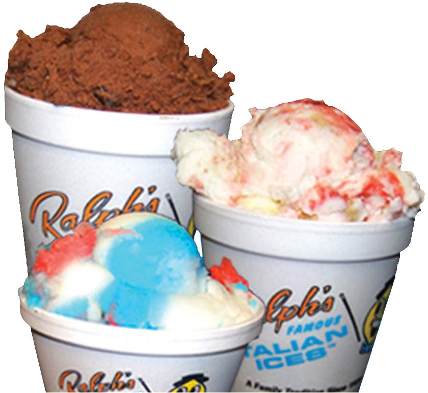 Ralph's Ices has delicious ice cream flavors, ices and sundaes