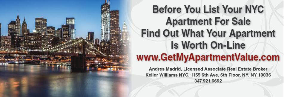 Apartment For Sale in NYC banner; Realtor