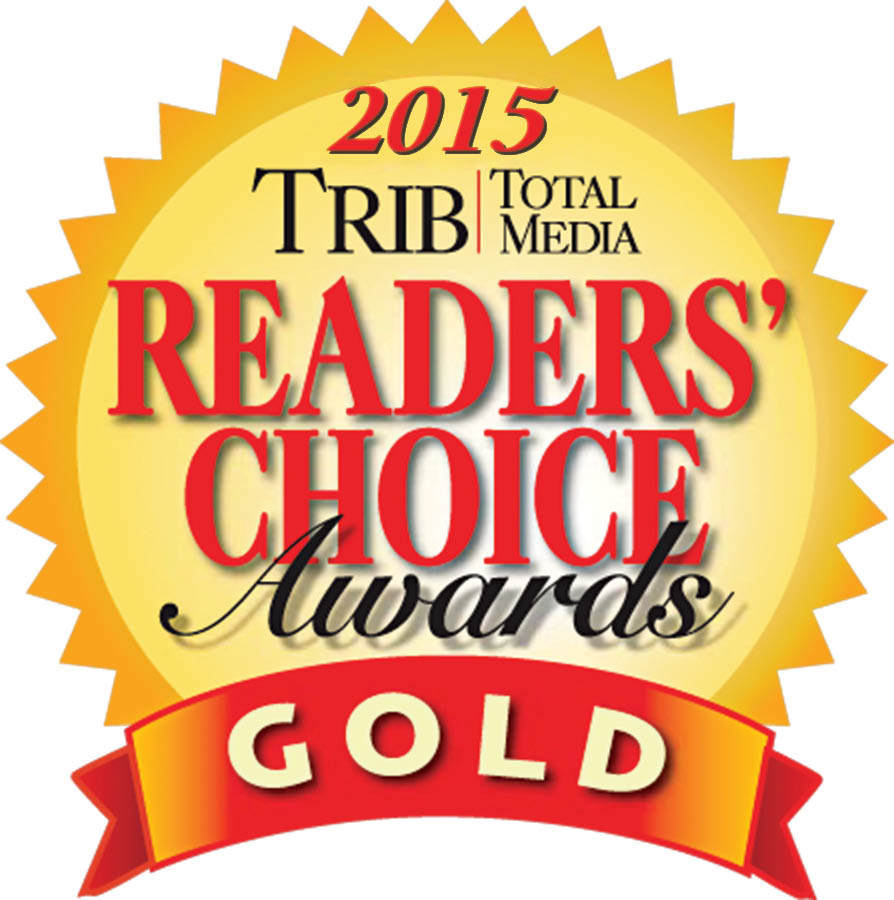 Logo for Reader's Choice Award Gold for Best Plumber North in 2015 for Terry's Plumbing Pittsburgh PA