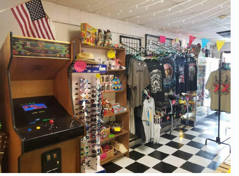 Assortment of unique new and vintage items at ReCollectables in Newton NJ