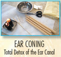 Ear coning detoxifies the entire ear canal for healthful benefits