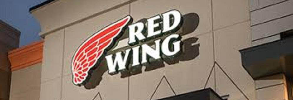 photo of Red Wing Shoes logo on side of building in Brighton, MI
