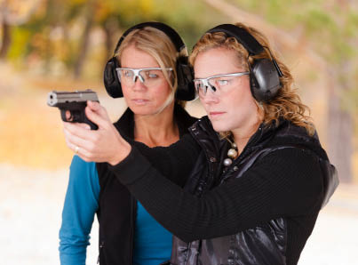 We have firearms classes to help familiarize you with shooting