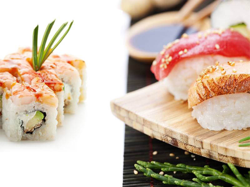 Sushi rolls and seafood specialties from Haiku Sushi & Seafood Buffet in the Redmond Town Center