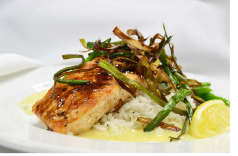 Glazed Salmon at Redwoods Grill & Bar in Chester NJ