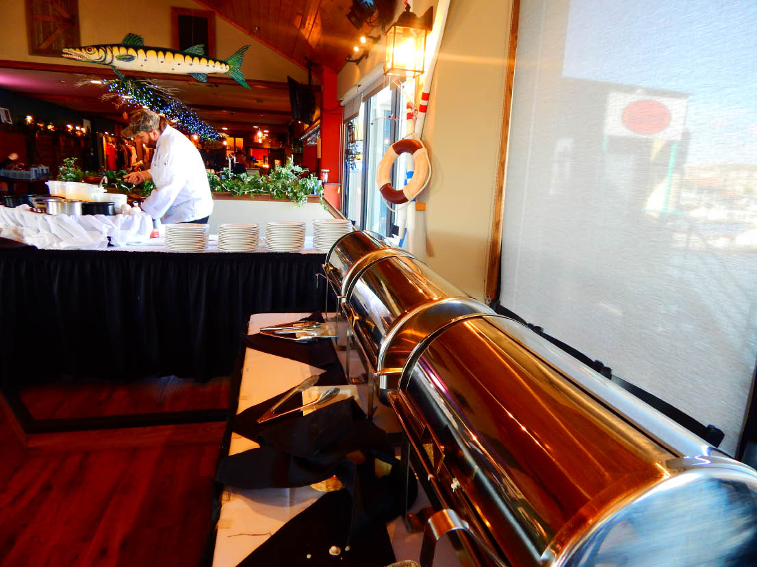 Photo of the Sunday breakfast bar at Reefpoint Brewery, bar and fine dining in Oak Creek, WI