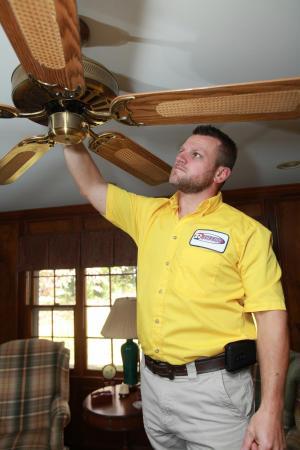Ceiling fan installation by Reliable Heating & Air