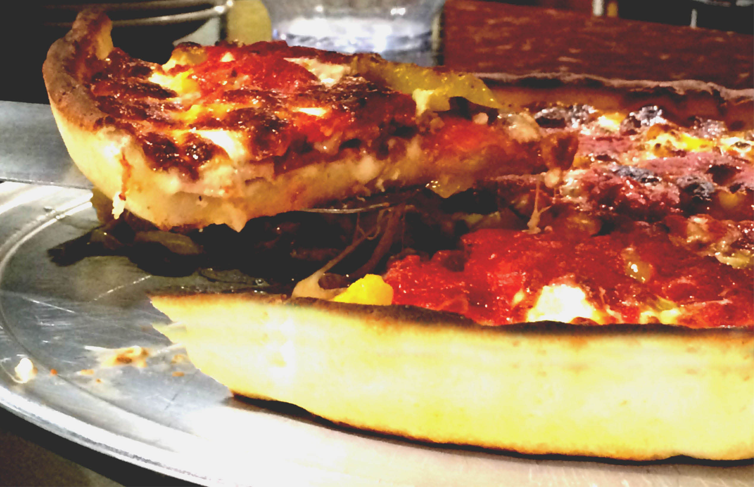 photo of Chicago Style deep dish gluten-free pizza at Renee's Gourmet Pizzeria in Troy, MI and Southfield, MI