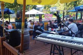 Dine outside on the patio at Santa Fe Mexican Grill in Renton, WA