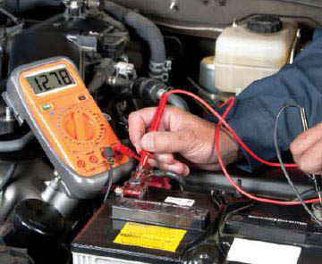 photo of battery check at Repair Once Tire & Auto in Westland, MI