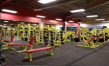 Weight training area at Retro Fitness Health Club in East Windsor, NJ
