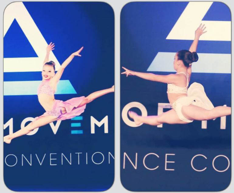 Young dance students of Revolution Dance Factory performing dance routines in competition - Issaquah dance studio