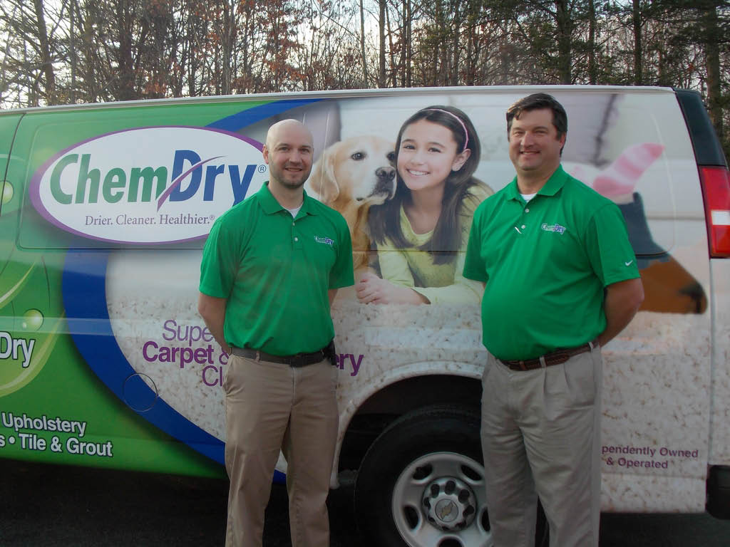 Our Chem-Dry cleaning truck & technician will come to your neighborhood