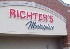 Picture of Richter's Marketplace Entrance sign in Burlington, WI