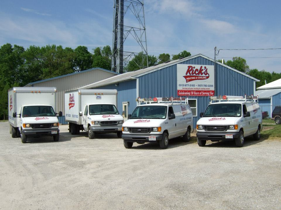rick's heating cooling air conditioning services morrow ohio service fleet