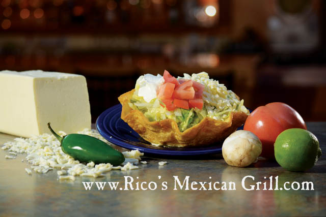 Rico's Mexican Restaurant Taco Salad Midlothian, Glen Allen, Mechanicsville