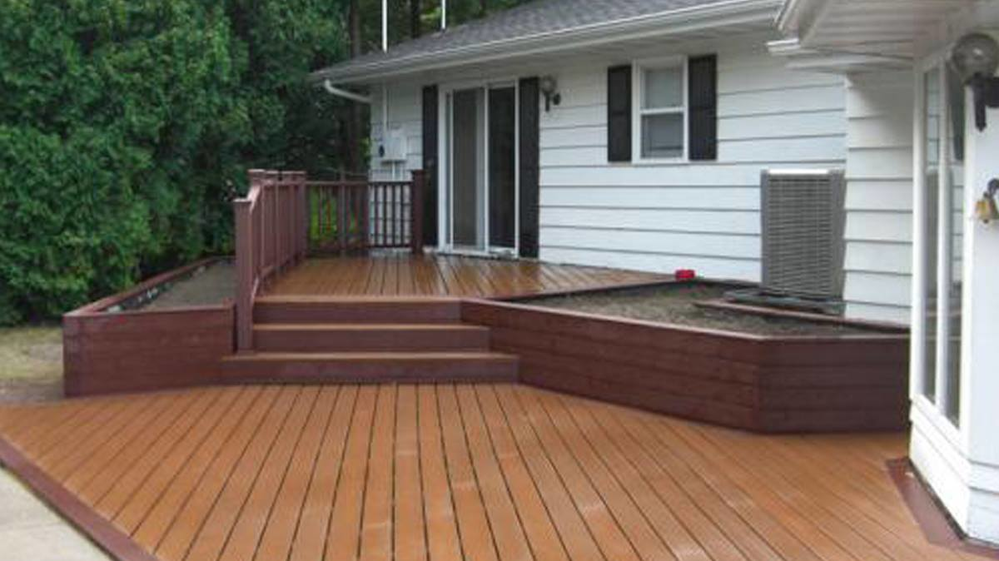 Picture of Ridgetop Exteriors Deck in a backyard in Fitchburg, WI