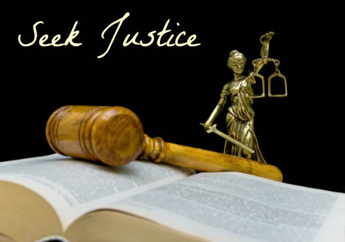 Seek legal counsel to resolve financial concerns