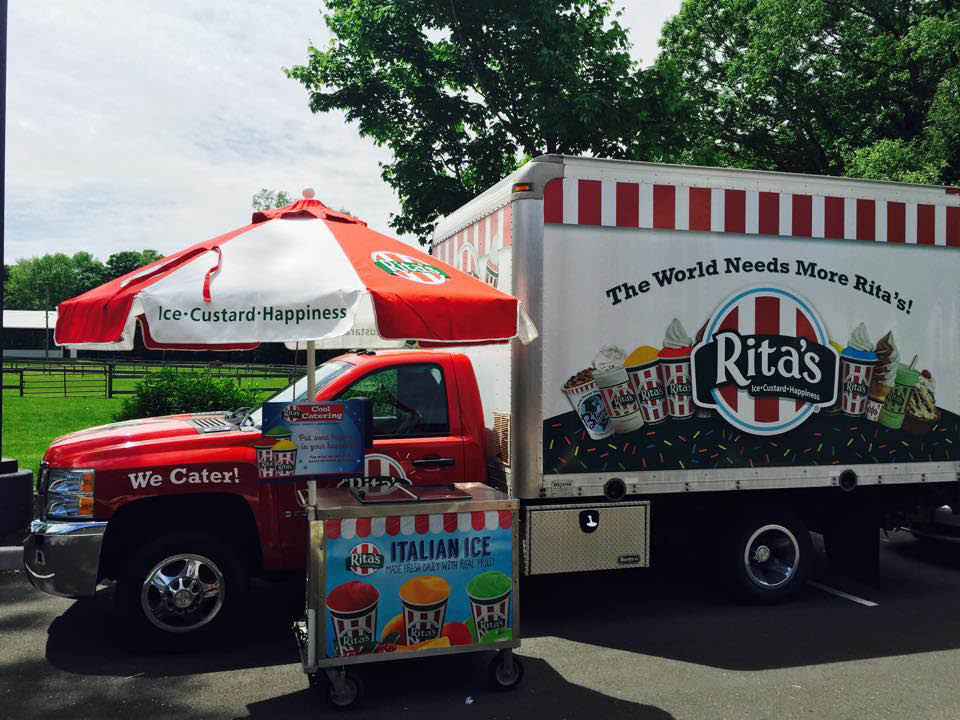 Rita's can cater your next event by bringing the trucks to your neighborhood