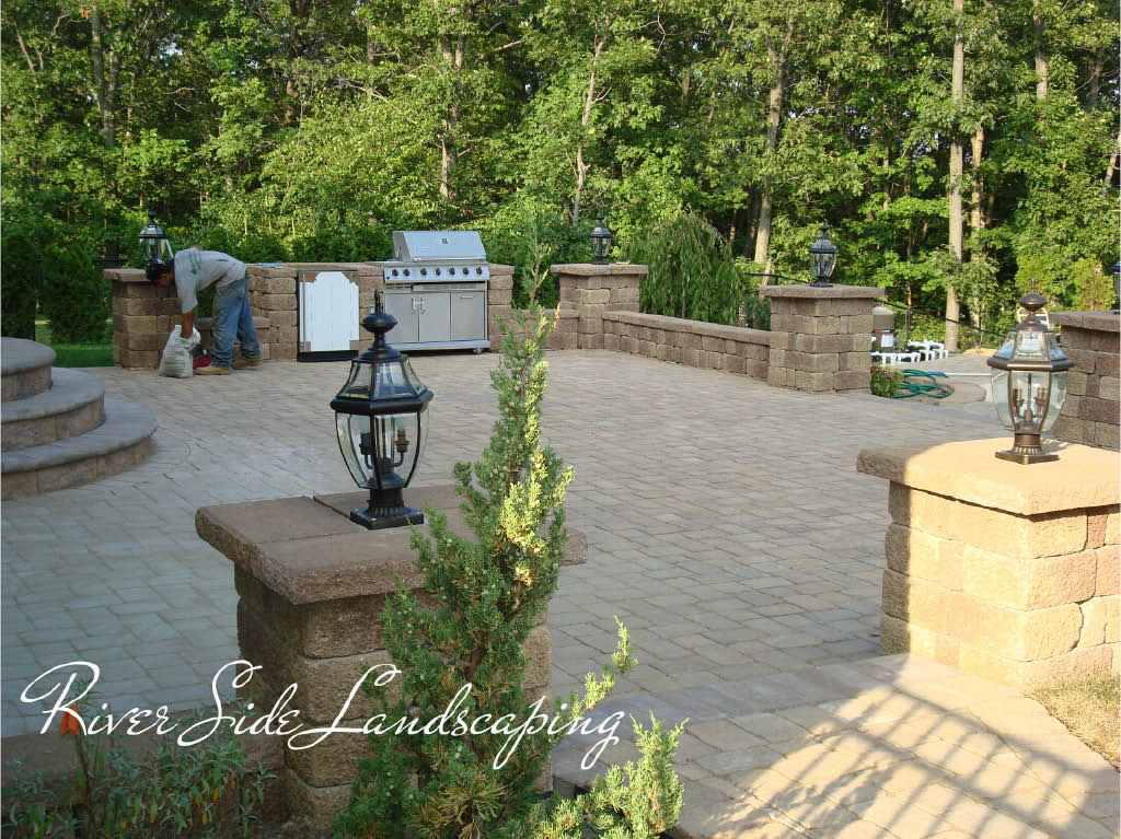 Retaining Wall by River Side Landscaping and Construction in Dover, NJ