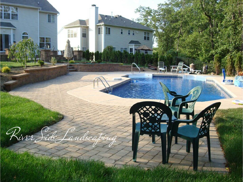 Patio by River Side Landscaping and Construction in Dover, NJ