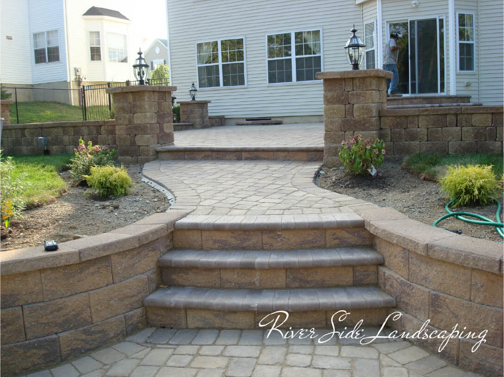 Steps and Walkways by River Side Landscaping and Construction in Dover, NJ