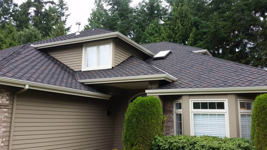 Designer composition roof installed by Riverside Roofing in Bothell, WA - roofing contractors near me - roofers near me