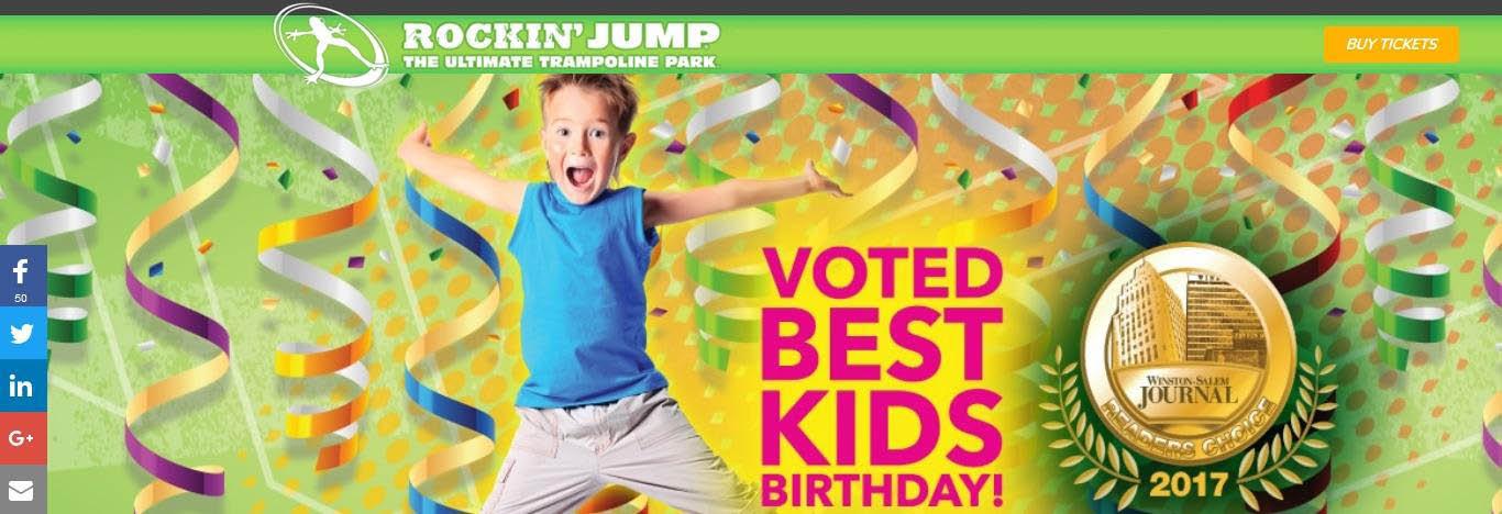 Rockin' Jump Greensboro & Winston-Salem Banner ad