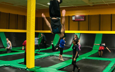 Rockin' Jump is an indoor trampoline park in Brentwood CA