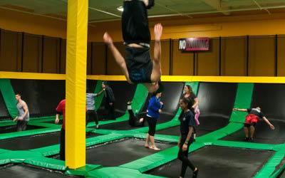 Rockin' Jump is an indoor trampoline park in Brentwood CA