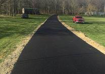 Freshly paved asphalt driveway near Brentwood, TN