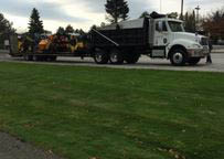 Asphalt repair materials in truck owned by Rocky Top close to Belle Meade