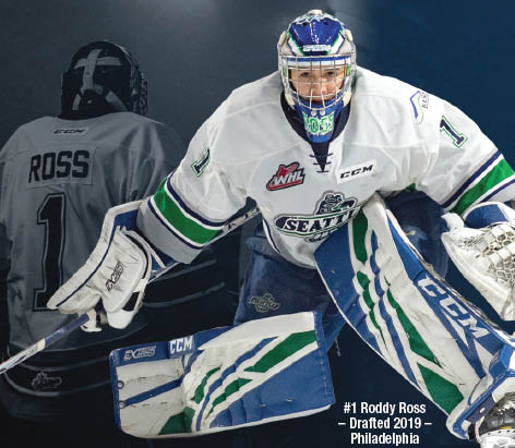 Exciting WHL hockey from the Seattle Thunderbirds in Kent, WA - Roddy Ross, Goalie