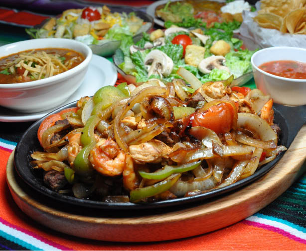 Our Award Winning Sizzling Fajitas with Peppers